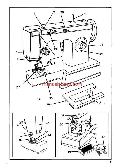 Singer 1802 1852 1872 Sewing Machine Instruction Manual Sewing