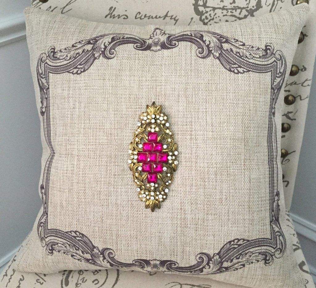 This little jewel of a pillow has a timeless design on each side