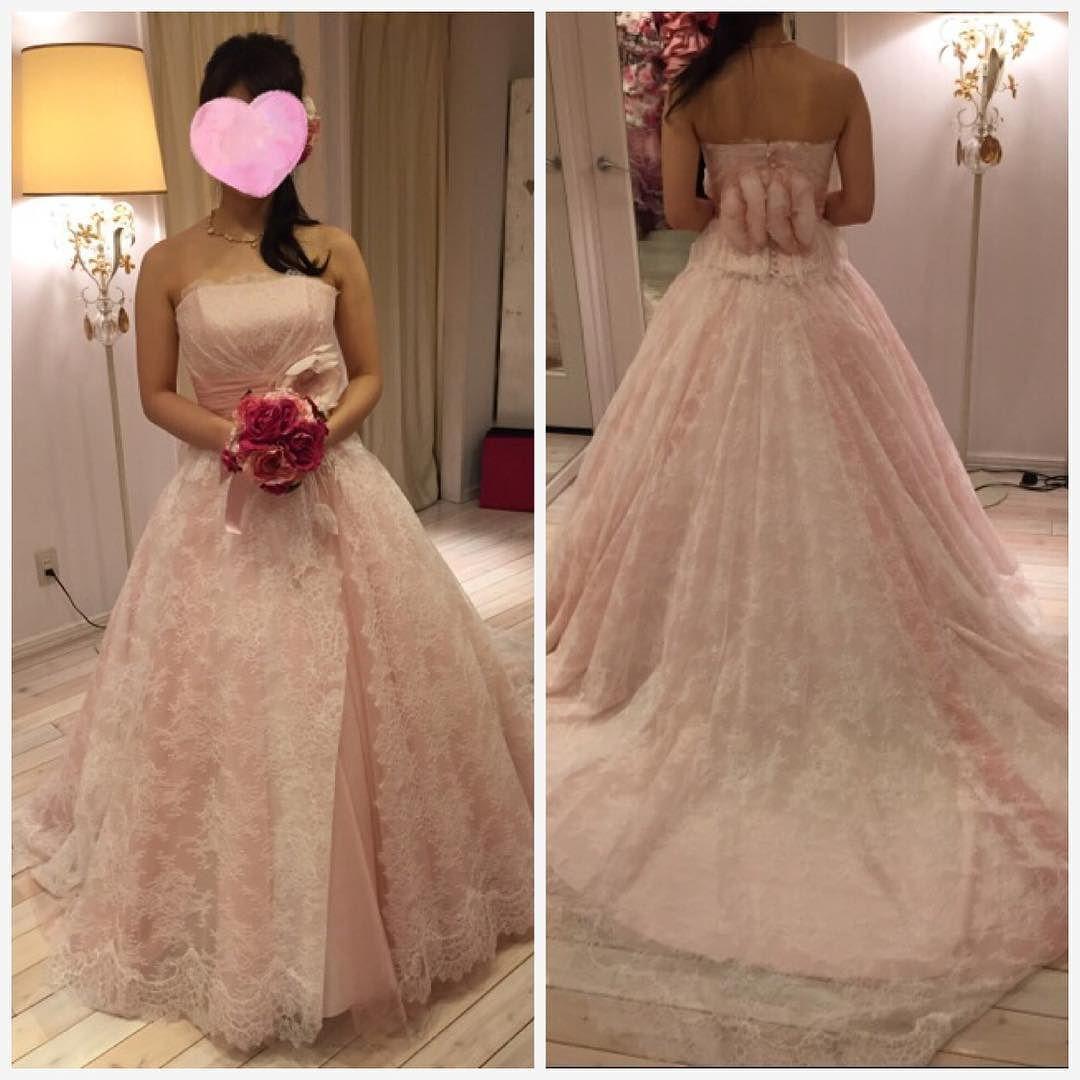 89725513fb5c2 グランマニエのショーで惚れたピンクのドレスベリナダを試着 見えづらいけどウエストの