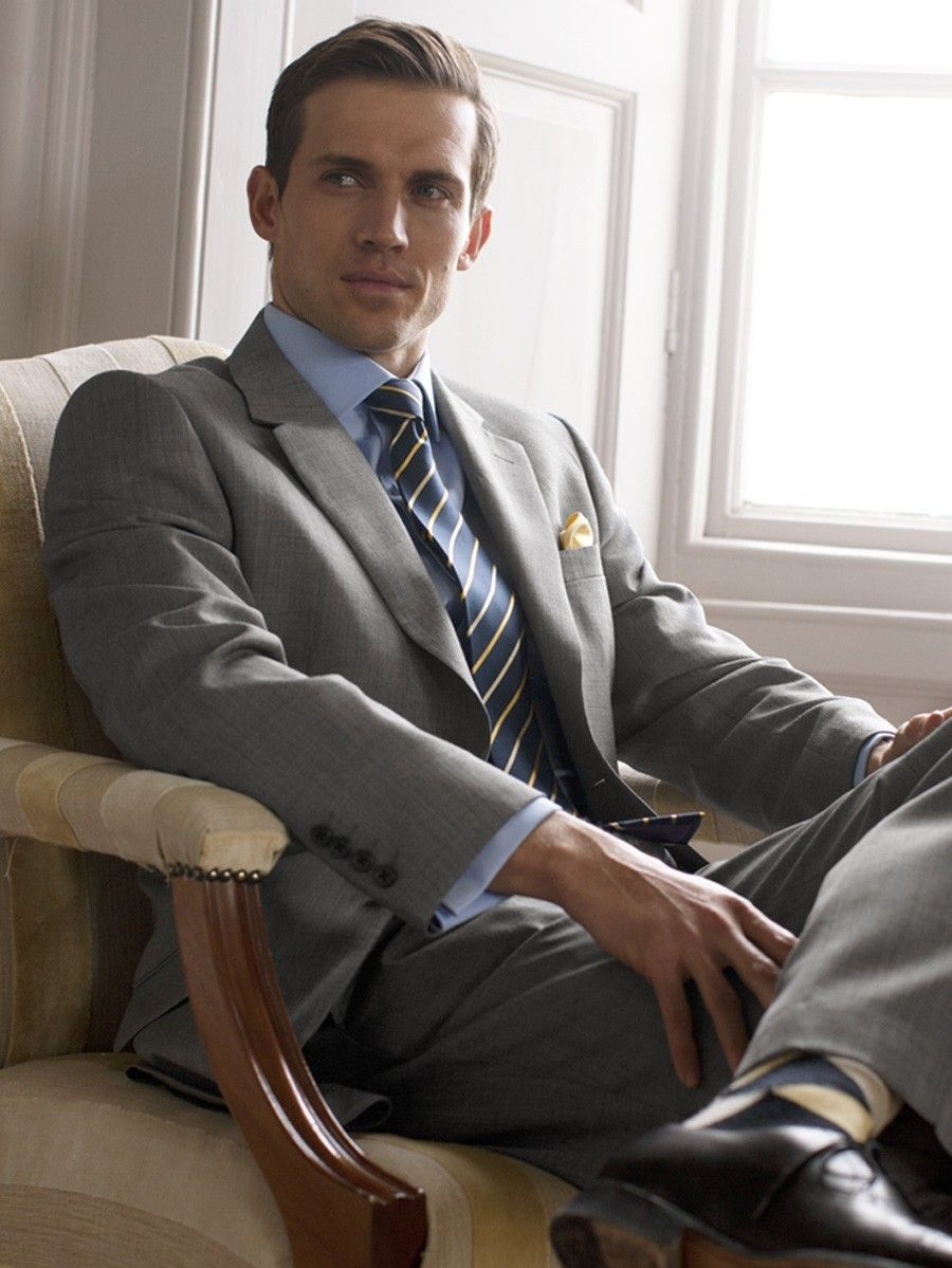 Dressing in a grey suit no your not boring your showing