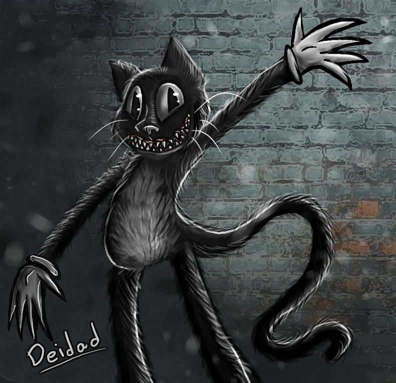 Cartoon Cat Is Not Scary By Deidad01 On Deviantart In 2021 Cartoon Cat Drawing Cartoon Cat Cat Drawing