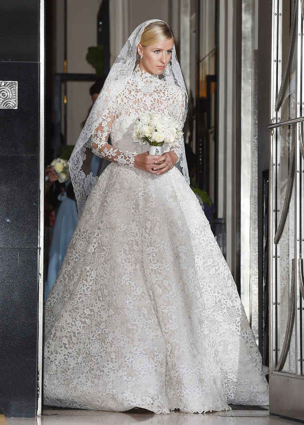 nicky hilton just got married and wore the most incredible dress