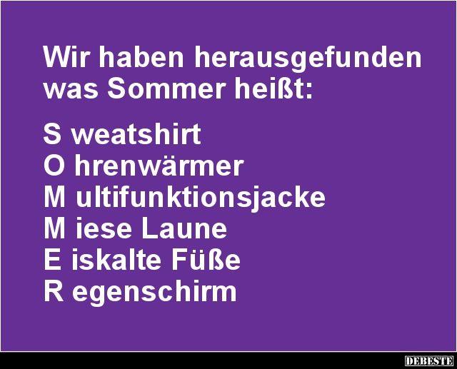 Wir haben herausgefunden was Sommer heißt.. | Lustige ...