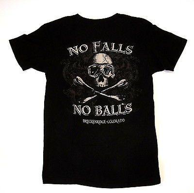 Mens S NO Falls NO Balls Skiing Breckenridge Colorado THE Duck CO Small T Shirt   eBay