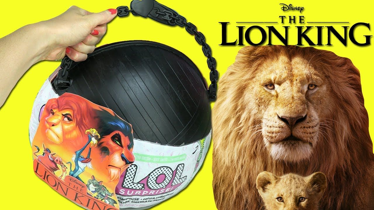 Lol Big Surprise Custom Ball Opening Diy Disney The Lion King 2019 T Lion King Disney Diy Lion King Movie