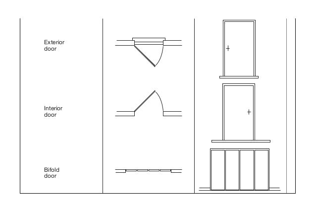 Architectural Symbol Folding Doors : Exterior door interior bifold conpaldewalt
