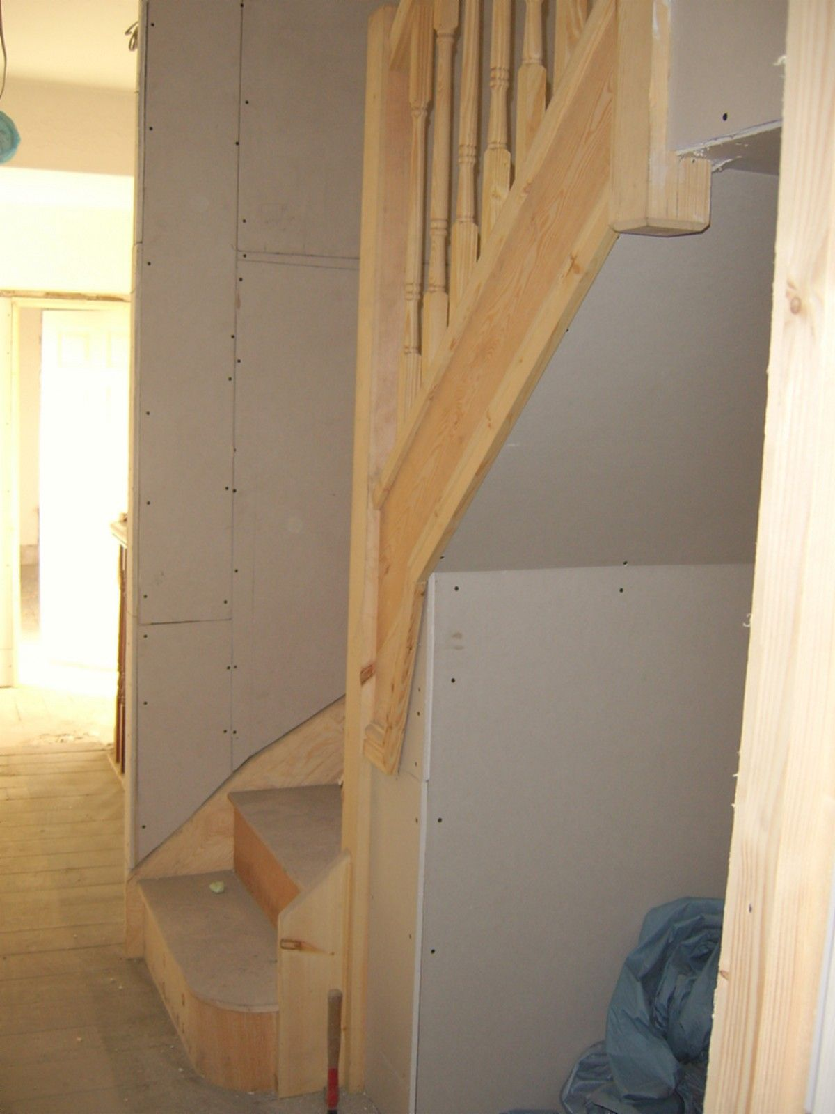 New loft staircase installed off an existing landing ...