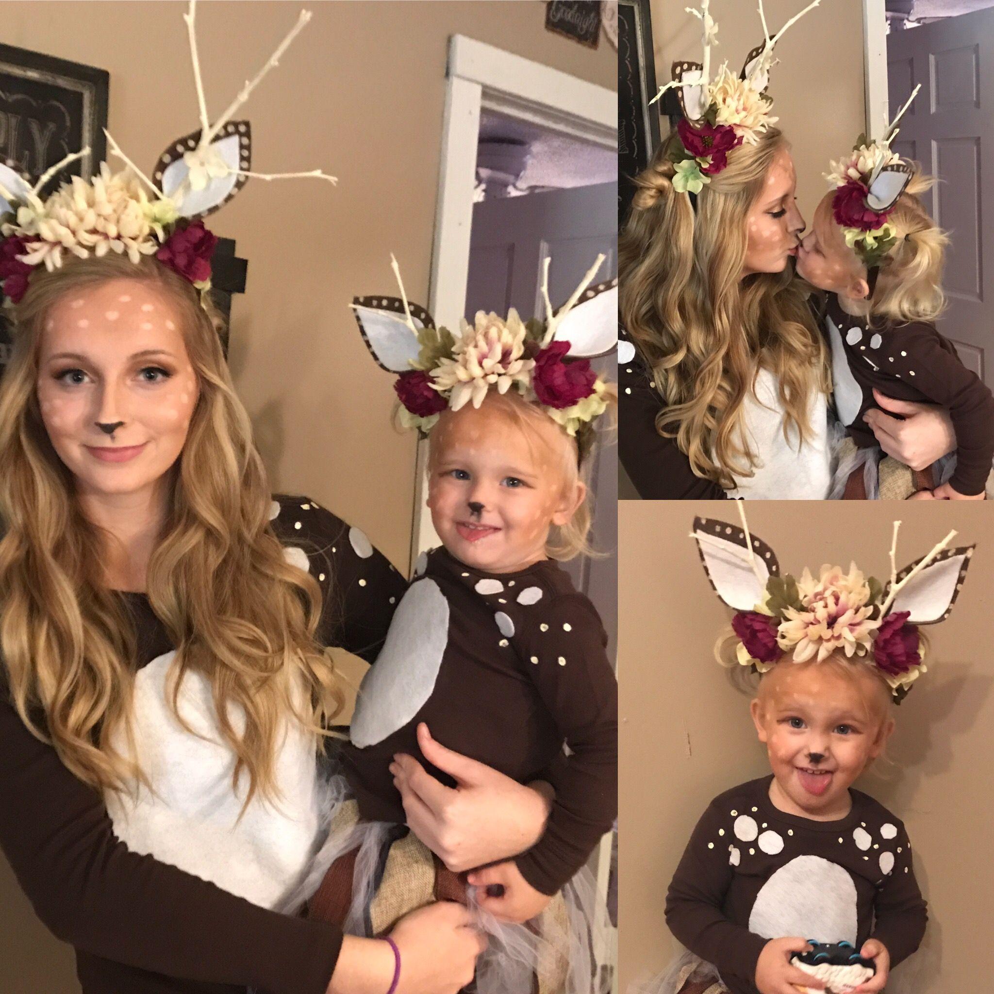 diy deer costume ~ mommy & me ~ toddler deer costume idea #toddlerhalloween