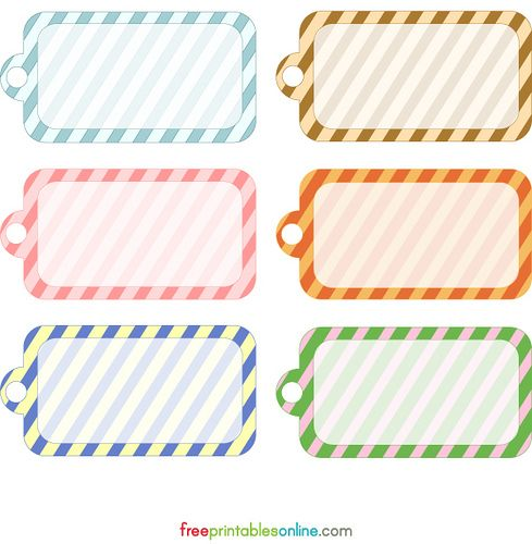 Blank Printable Simple Stripes Gift Tag Template Free Printables Online Gift Tag Template Free Free Printable Gift Tags Gift Tags Printable