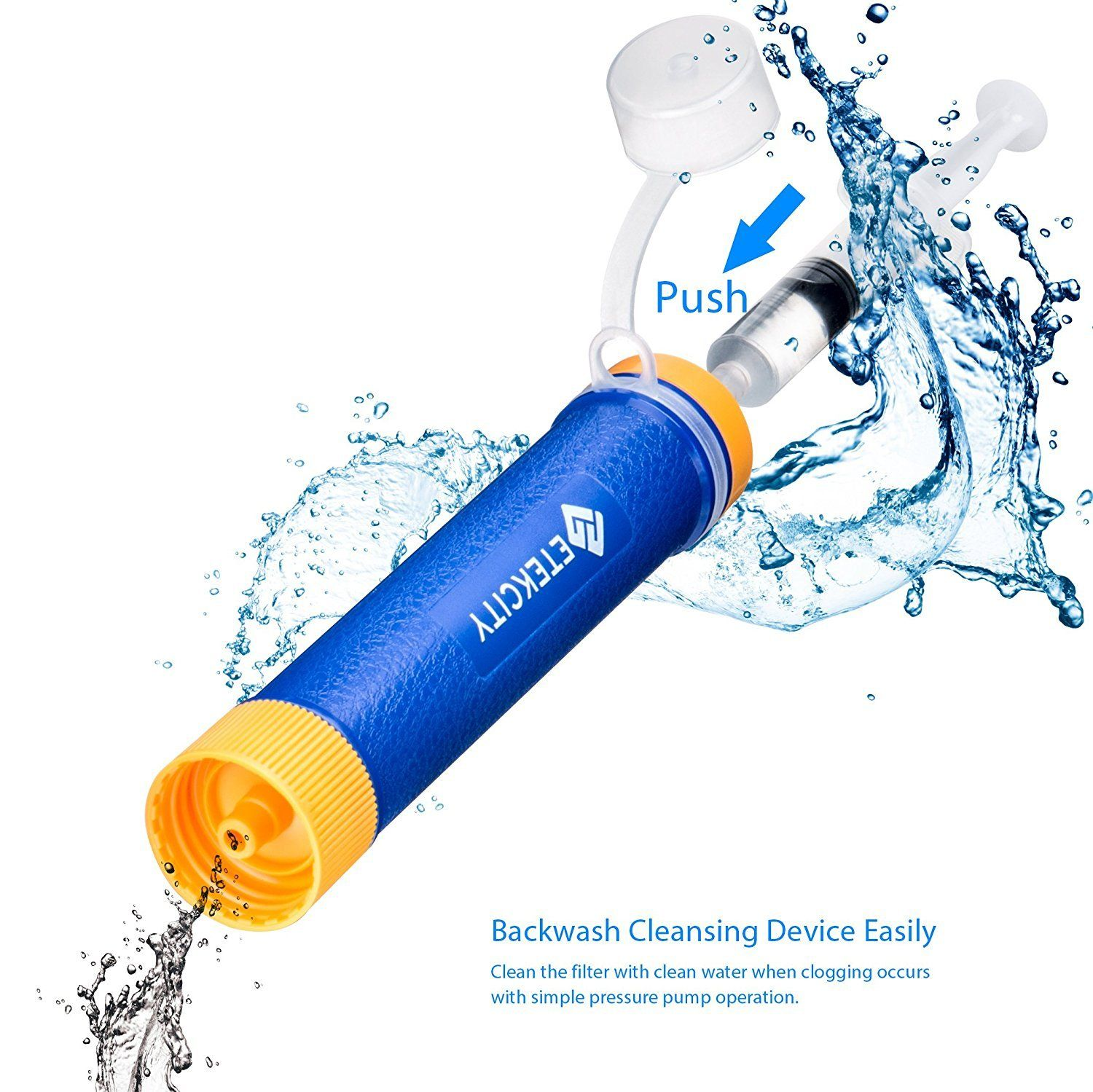 water purifier straw. Beautiful Water Etekcity Portable Water Filter Filtration Straw Purifier Survival Gear  1500L Emergency Camping Equipment 3stage 001 Micron Kit  Throughout