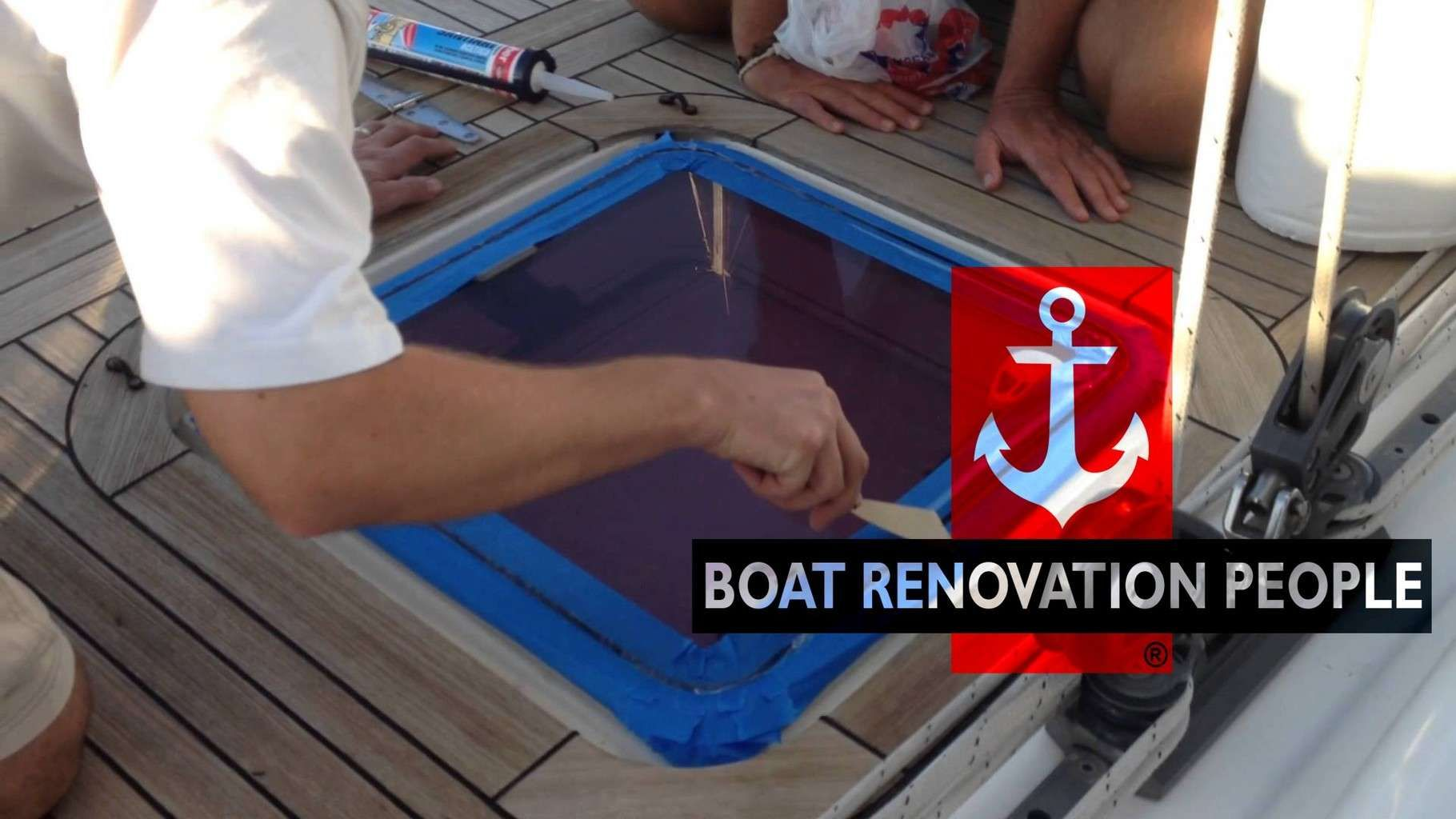 Resealing A Topside Hatch Boat, Deck, How to apply