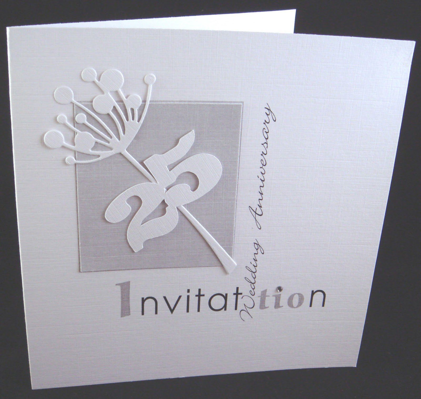 Silver Wedding Invitations Pinterest: 25th Silver Wedding Anniversary Invitation Cards