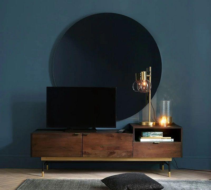 meuble tv vintage 2 portes sterling en
