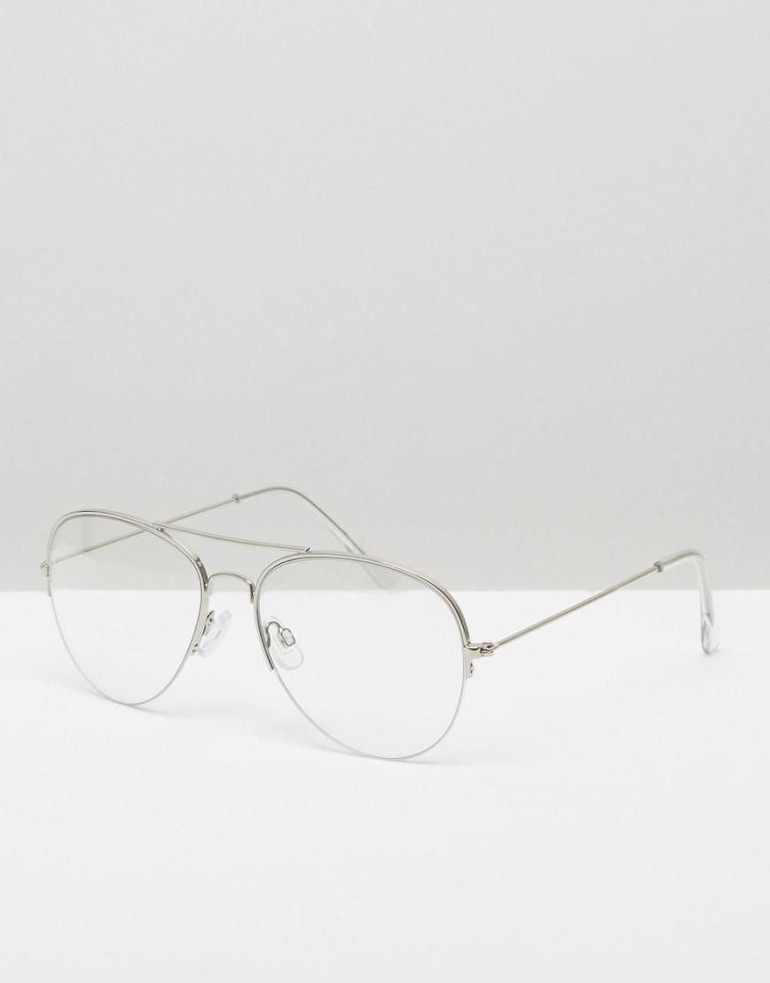 59255287be Pieces | Gafas de sol aviador con lentes transparentes de Pieces en ASOS