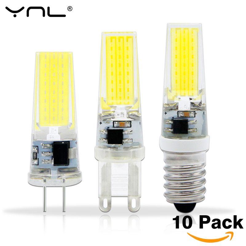 10pcs Lampada Led G4 Lamp Ac Dc 12v 220v Cob E14 Bombillas Led G9 Light Bulb Lighting Replace Halogen Spotlight Chand With Images Crystal Chandelier Lighting Lamp Led Bulb