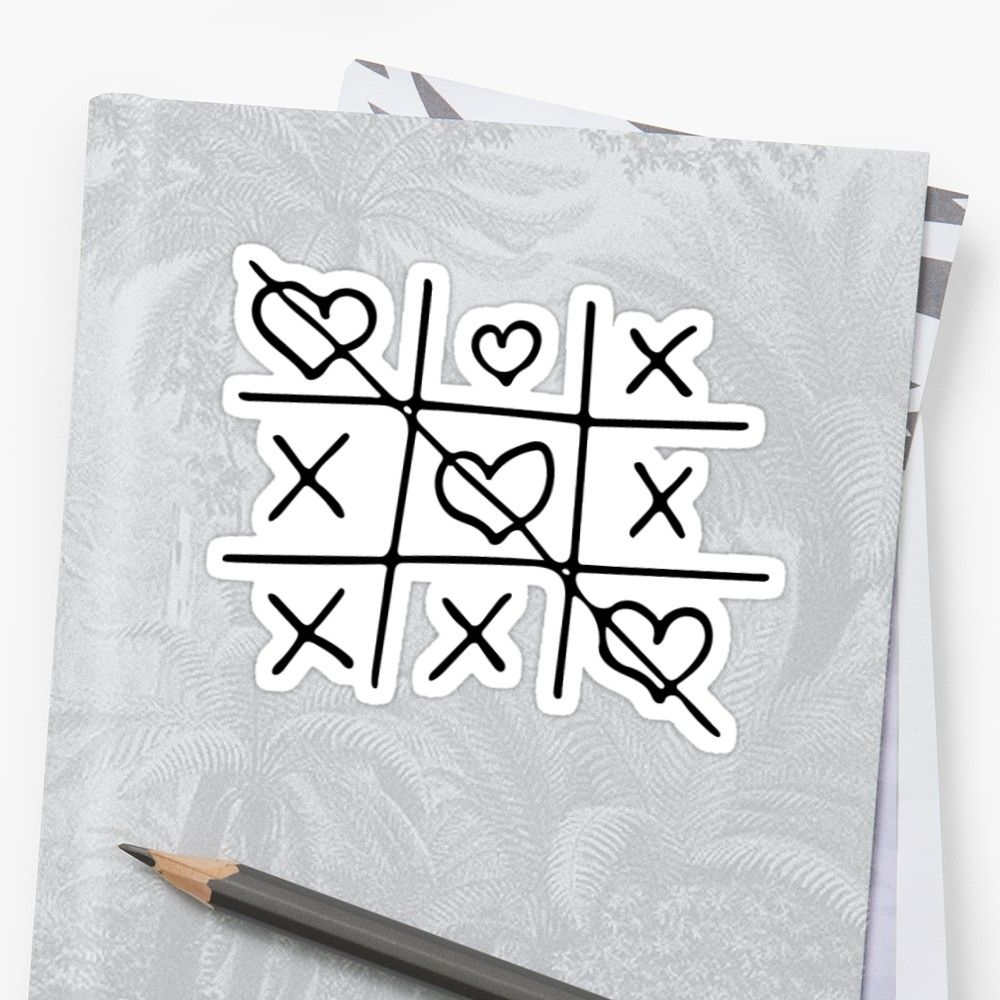 x o x handdrawn black minimal art Sticker How to draw
