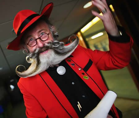 Every two years, the owners of the world's most elaborate facial hair come together for the World Beard and Moustache Championships. Meet some of the craziest beards and mustaches ever. (Weirds Beards and Mustaches, Strange Beards and Mustaches, Bizarre Beards and Mustaches)
