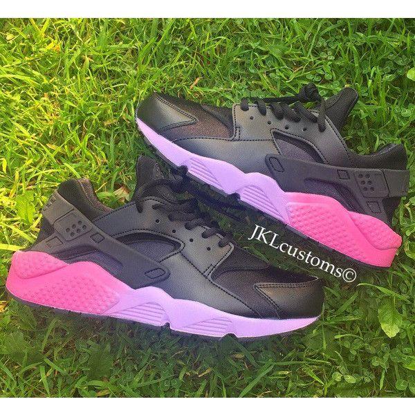 c32c52bb7b5c2 Pink   Lilac Fade Soles Neon Nike Air Huarache Pink and Lilac Huarache  ( 176)