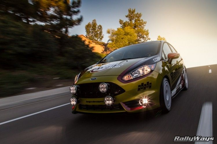 RallyFist Fiesta ST Rolling Shot - RallyWays - Click through to the article to see all the build parts in our Ford Fiesta ST Project Car. #RallyWays