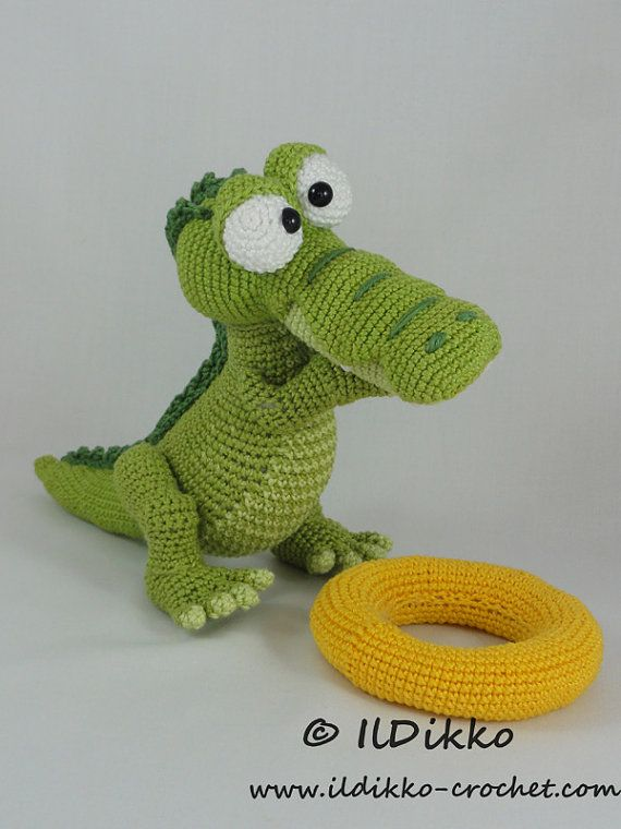 Amigurumi Crochet Pattern - Conrad the Crocodile - English Version ...