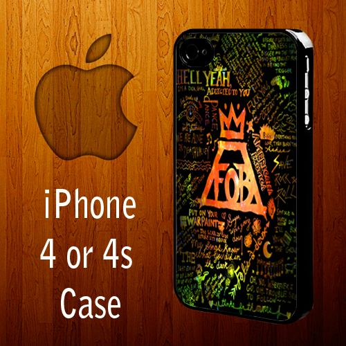 B1324 Fall Out Boy Liryc Iphone 4 or 4s Case | statusisasi - Accessories on ArtFire