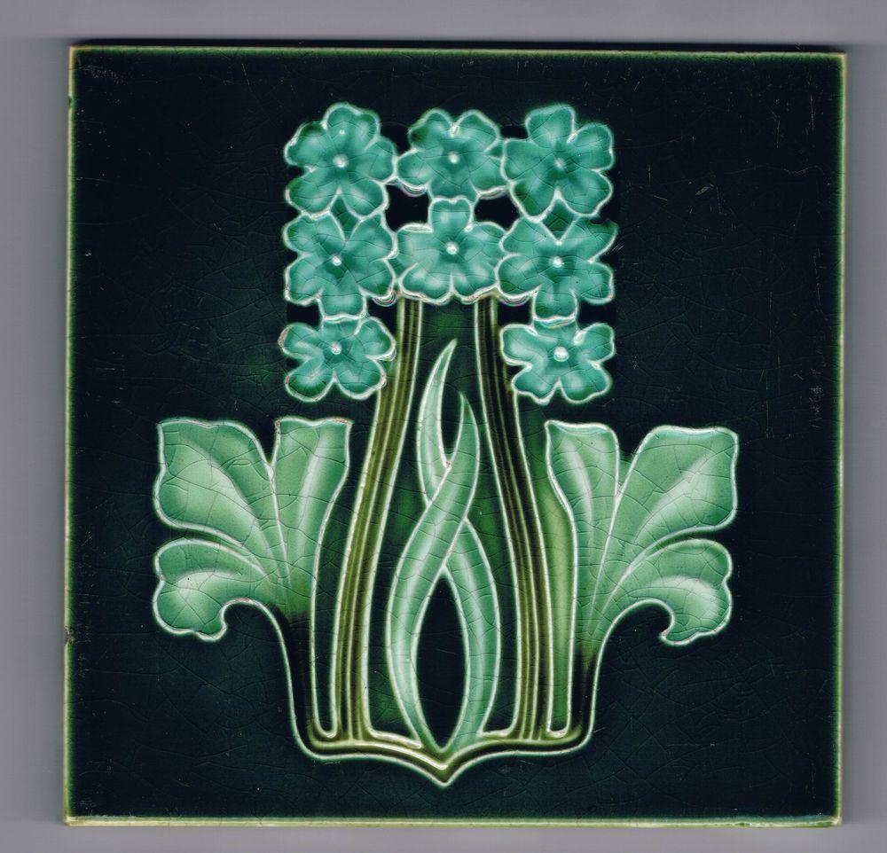 Jugendstil art nouveau fliese tile tegel carreau corn brothers old tiles art nouveau and art - Art deco fliesen ...