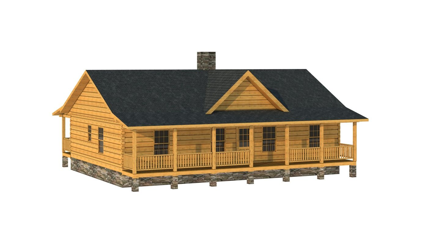 """""""The Guilford"""" is one of the many log cabin home plans from Southland Log Homes. You can customize the Guilford to meet your exact needs with our free design tools."""