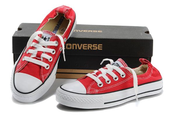 750271a8fd44 Classic Red Converse Slip-on Styling Chuck Taylor Shoreline All Star Low  Tops Canvas Shoes