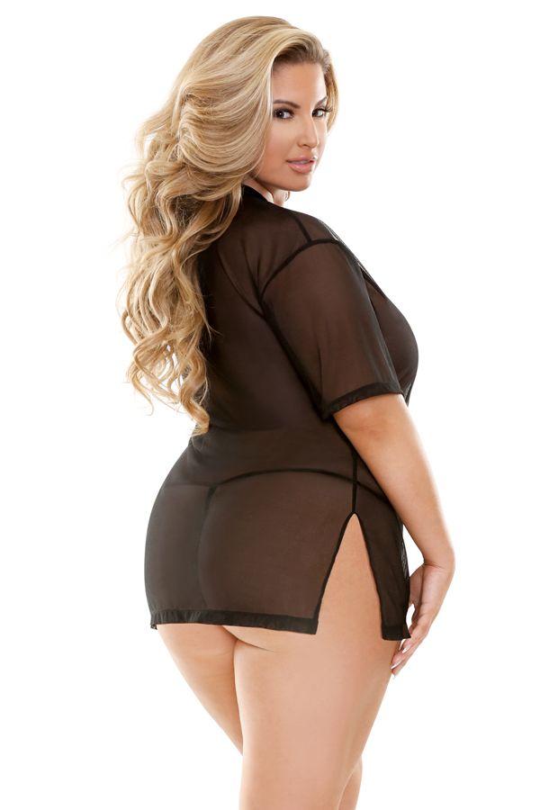 1730645c46f7 Plus size model Ashley Alexiss Plus Size Lingerie
