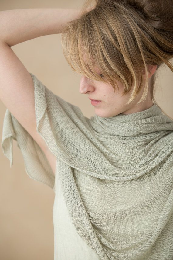 knitting scarf eco- friendly Taupe Grey Scarf  bamboo