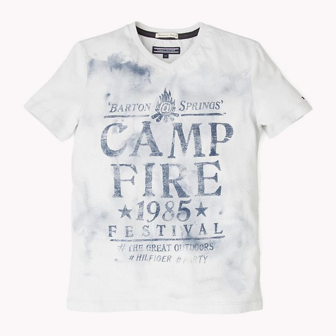Tommy Hilfiger Camp Fire T-shirt - micro chip-pt (Grey) - Tommy Hilfiger Tops - detail image 1