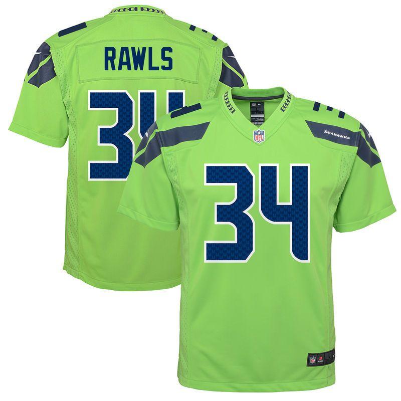 buy popular 6ca04 36e91 Thomas Rawls Seattle Seahawks Nike Youth Color Rush Game ...