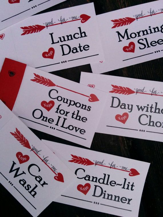 Valentines love Coupons for Husband Valentines gift for boyfriend DIY PDF Instant Download Love cards Stocking Stuffer Coupon book for him #sweetestdaygiftsforboyfriend