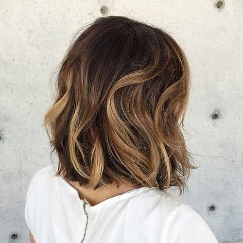 Beautiful-Wavy-Ombre-Bob-Hair-Back-View Beautiful Ombre