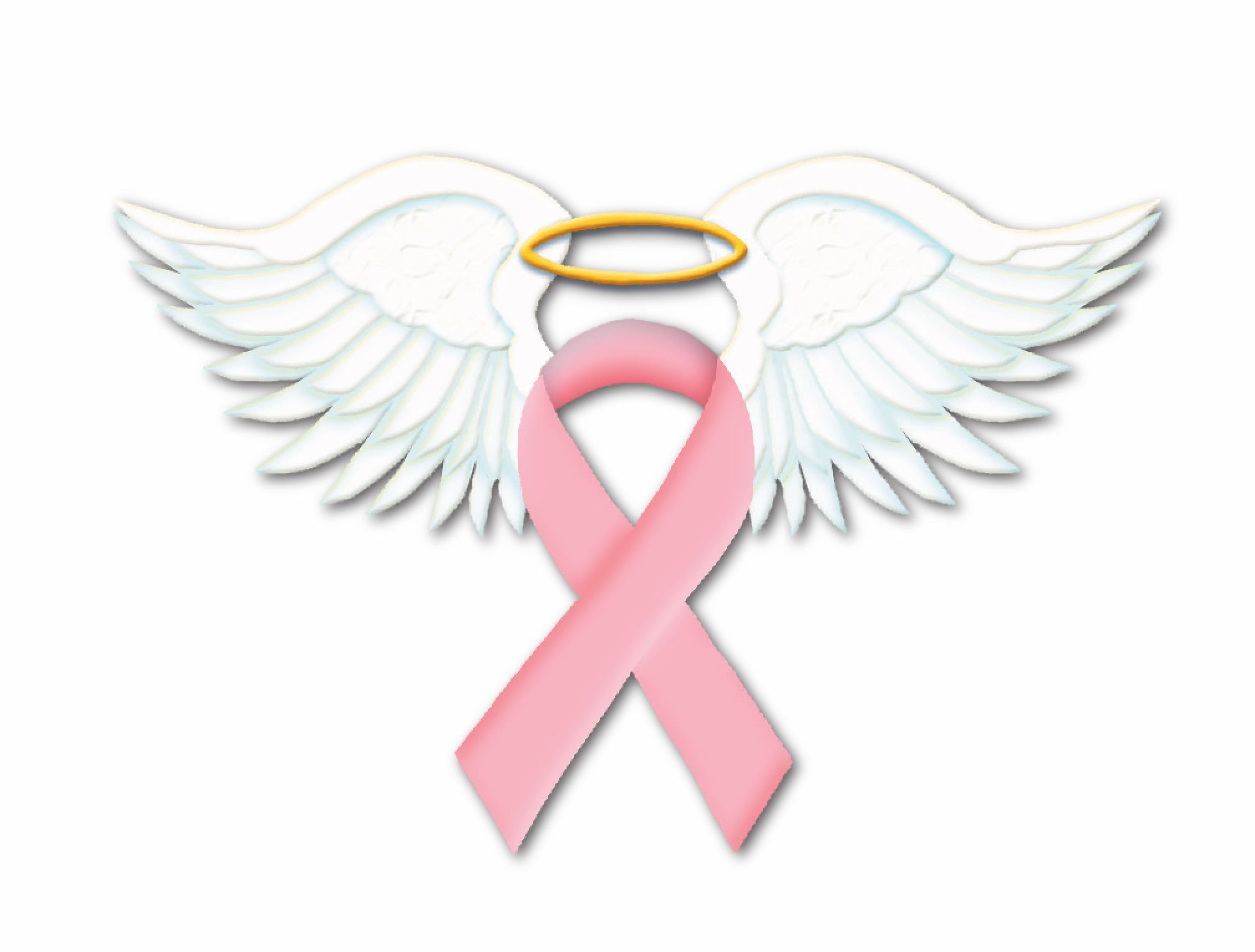 Images For Breast Cancer Ribbon With Angel Wings Clip Art Think