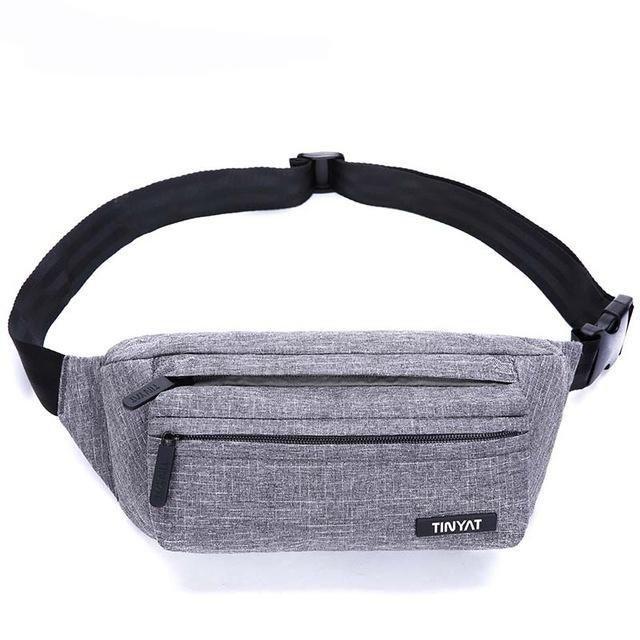Tinyat Men Male Waist Bag Light Belt Pack Bag Adjustable Shoulder Fanny  Pack Phone Coin Bag Pack Bags T251 820de5406d