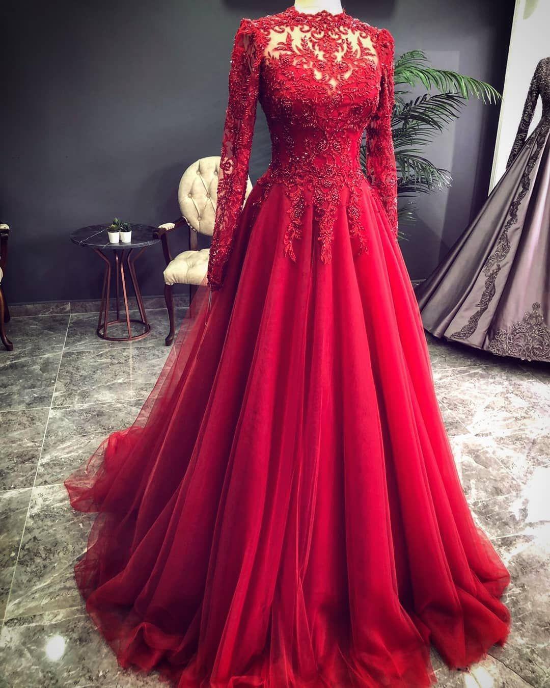 Luxus Rote Abendkleider Mit Ärmel  Abendmoden Mit