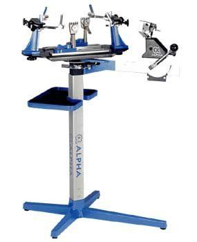 Alpha Axis Pro Stringer By Alpha 799 00 The Alpha Axis Pro Offers The Best Value In The Upright Manual Stringing Machines Mount System Mechanic Tools Clamps