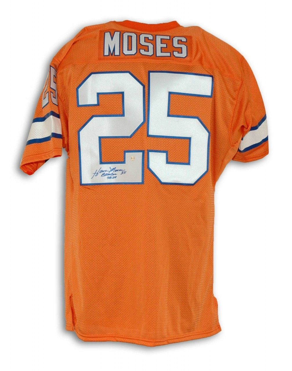 18d8d7ab4c1 AAA Sports Memorabilia LLC - Haven Moses Denver Broncos Autographed  Throwback Jersey Inscribed