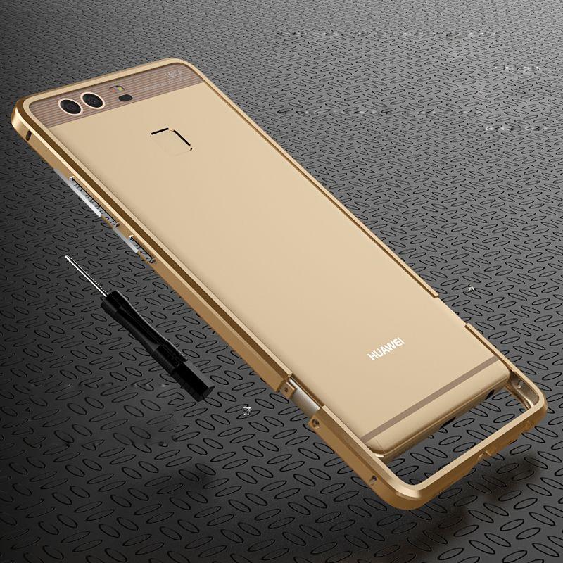 "For Huawei p9 Rapier Serie Luxury Aluminum Metal Bumper For Huawei Ascend P9 5.2"" Case Prismatic Shape Frame Metal Button Cover"