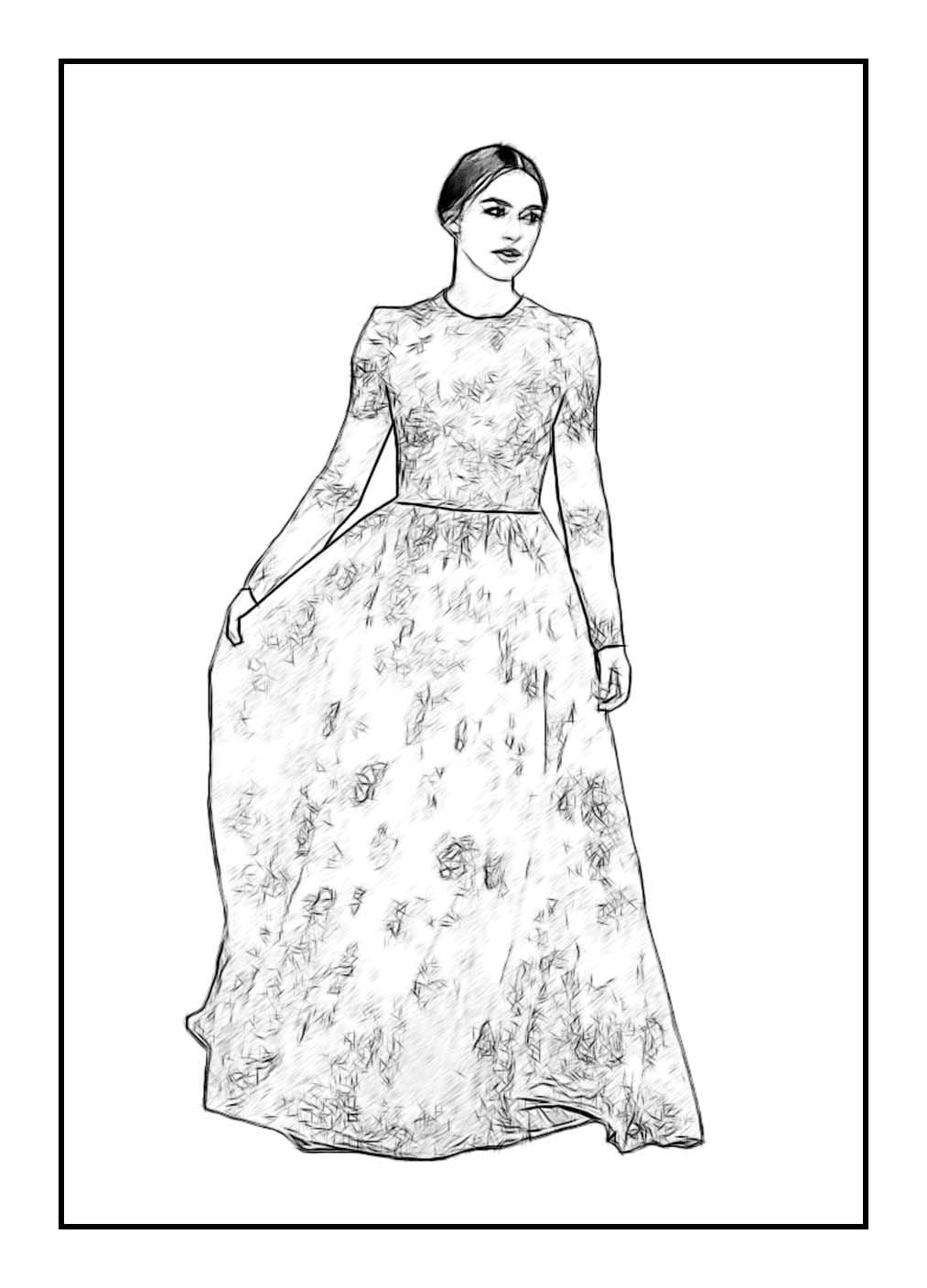 keira knightley celebrity coloring page by dan newburn