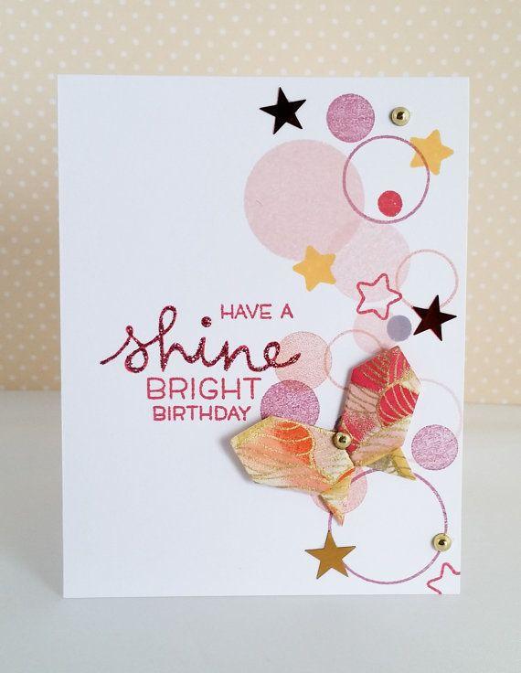 Handmade Origami Butterfly Birthday Card Momotako Crafts Creation