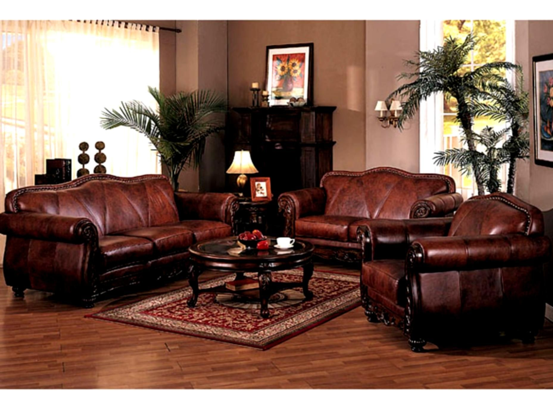 Cool Traditional Couches Living Room Collection Luxurious Leather Sofa With Show Wood