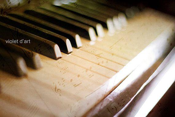 Melodies. 6x9 Original Fine Art Photograh. piano by violetdart, $27.00