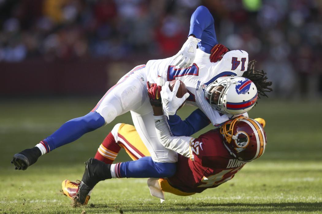 Buffalo Bills wide receiver Sammy Watkins (14) is tackled