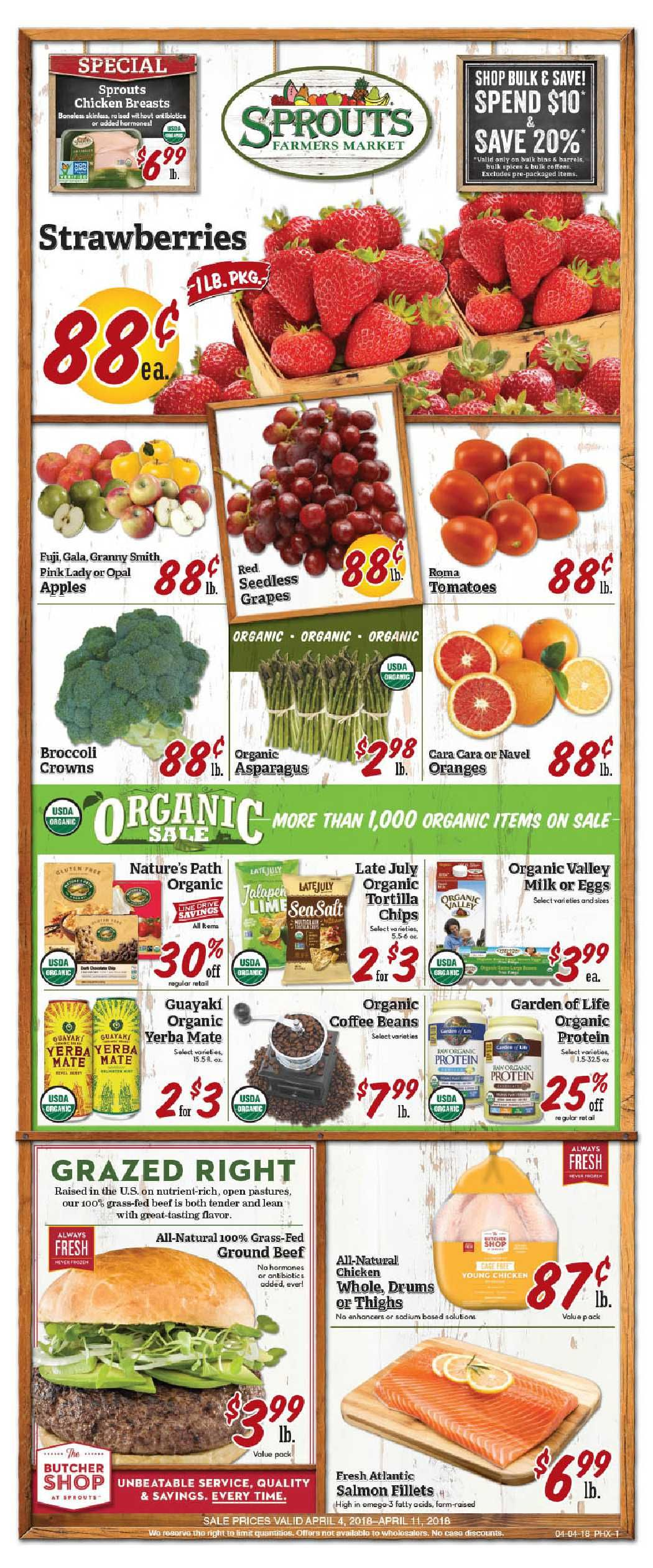 Sprouts Weekly ad Flyer July 10 17, 2019 Sprouts, Food