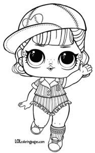 Short Stop Series 3 Wave 2 L O L Surprise Doll Coloring Page Lol Dolls Cute Coloring Pages Coloring Pages