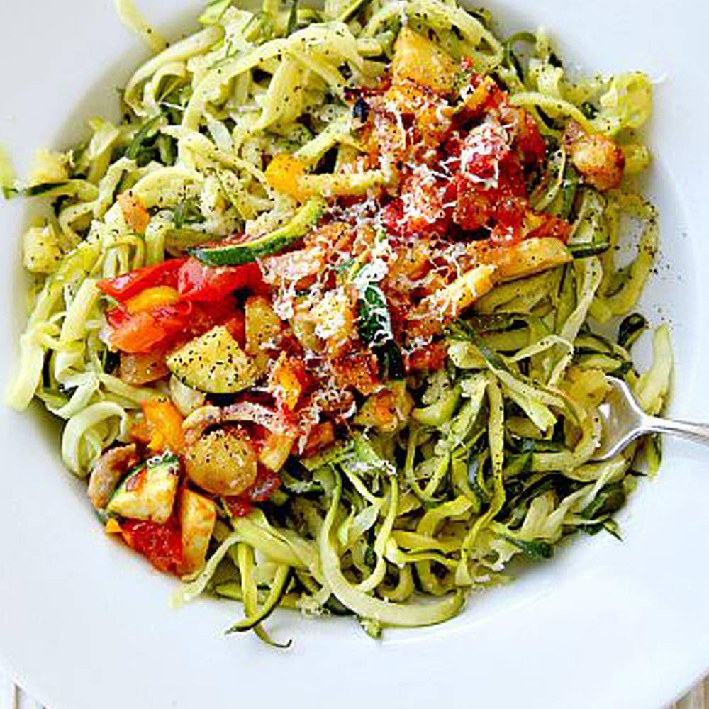 Courgette spaghetti comment agr menter des spaghetti de courgette elle table cuisine - Cuisiner courgette spaghetti ...