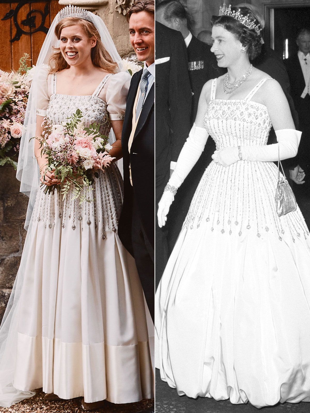 Princess Beatrice Holds Hands With Husband In Romantic New Wedding Portraits See The Photos In 2020 Princess Beatrice Wedding Royal Wedding Gowns Royal Wedding Dress