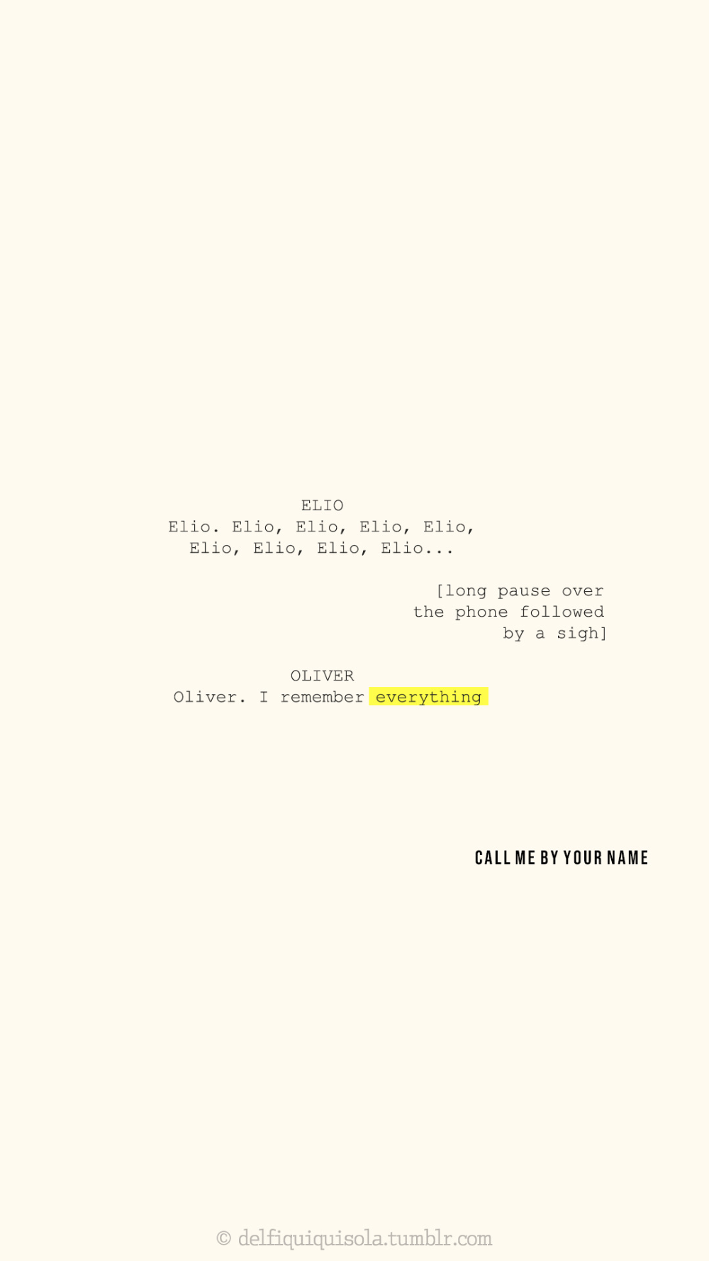 99 Call Me By Your Name Lockscreens Tumblr Your Name Quotes Your Name Wallpaper Name Wallpaper